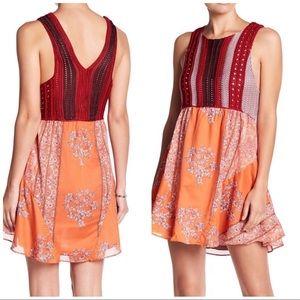 Free People Katie's Crochet Mini Dress